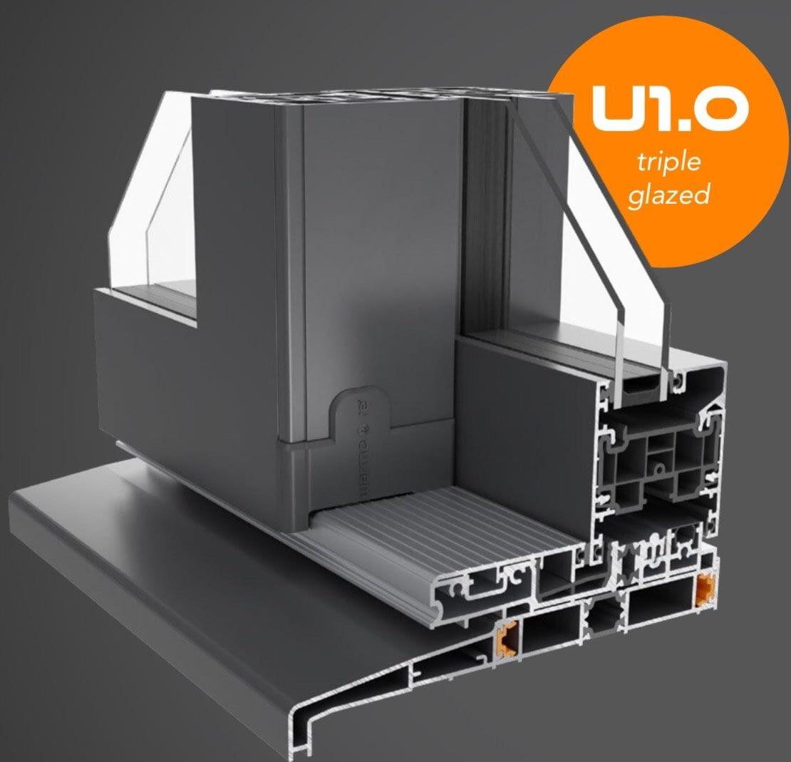 Aluminium patio door layout specification