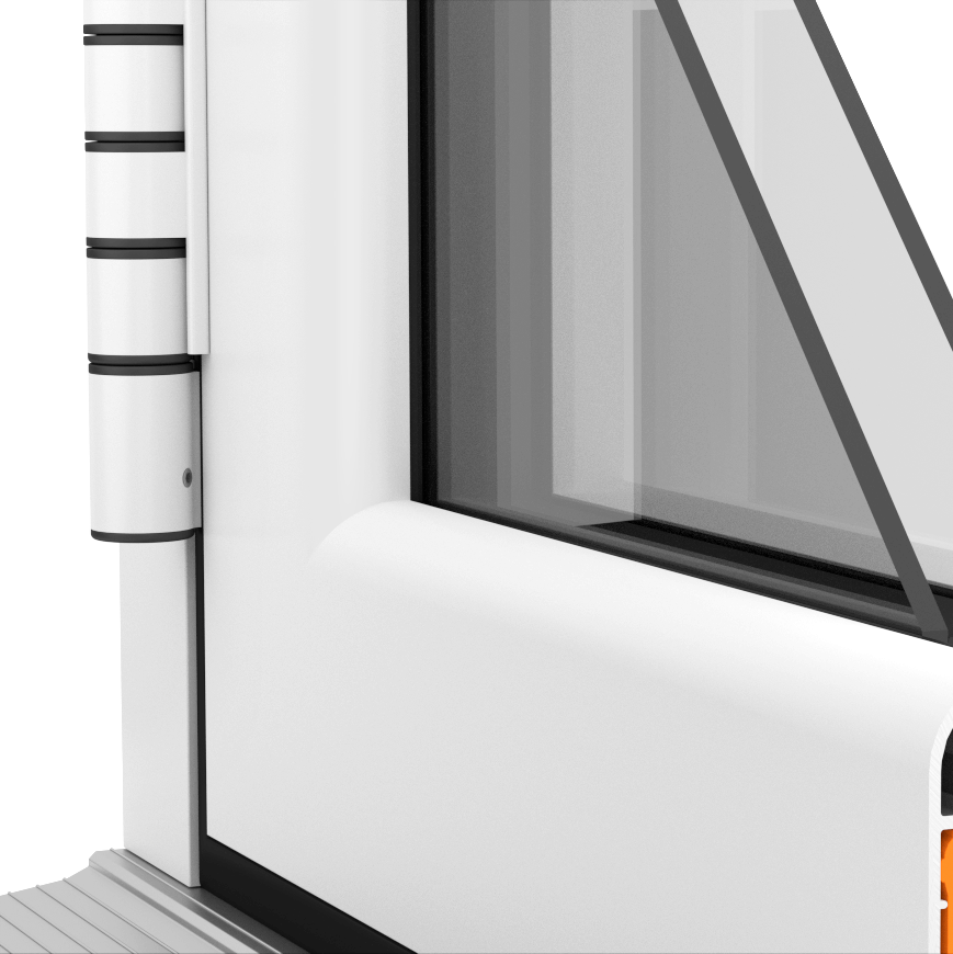 Pencil round external sash available on aluminium windows