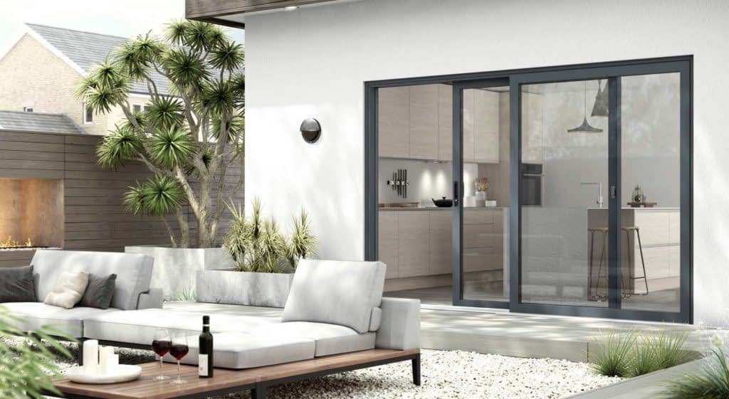 Highseal manufacturing offers PVC and aluminium to the trade, DIY, retail and Commercial. A PVC and aluminium manufacturer that can supply nationwide. This image shows one of the aluminium bi-folding doors Highseal can manufacture.