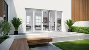 White Aluminium bi-folding doors available from Highseal Manufacturing. Manufactured at Highseals facotry in Scunthorpe, North Lincolnshire. Aluminium brochures available to download.