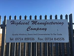 Highseal Manufacturing Company Sign. Contact us for a quote today.